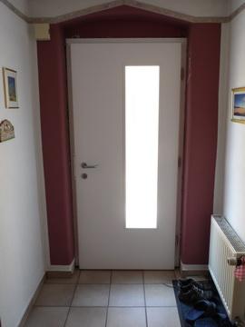 Haustür, nach Wunsch des Bauherrn hergestellt