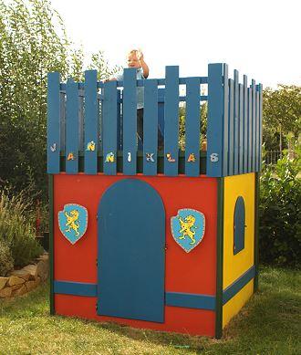 Spielturm / Kinderspielhaus, nach Kundenwunsch gefertigt von Schreinerei Bischof, Bretzenheim / Nahe